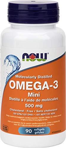 NOW Omega-3 Mini 500mg (36/24) 90 Softgels, 90 g