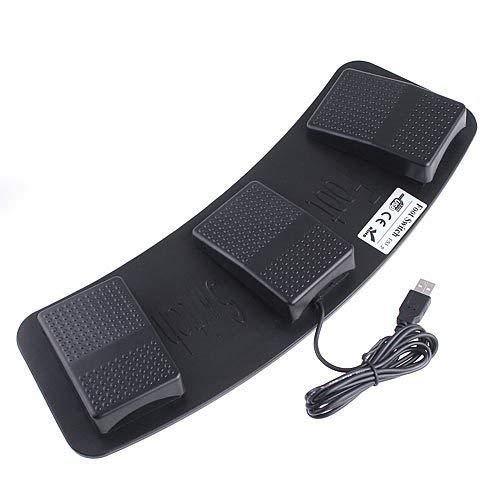 DecentGadget USBフットペダルスイッチ 3連ペダルスイッチ 足踏みスイッチ マウス操作 トリプル ゲーム・仕事・作業効率化