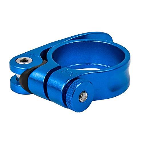 Drahtesel Fahrrad Schnellspanner, Sattelstütze, Sattel-klemme, Sattel-schelle, Klemmring, Sattelstützenklemme, Schnellverschluss in 28,6mm, 30,2mm, 31,8mm, 34,9mm (Blau, 28,6mm) - 3