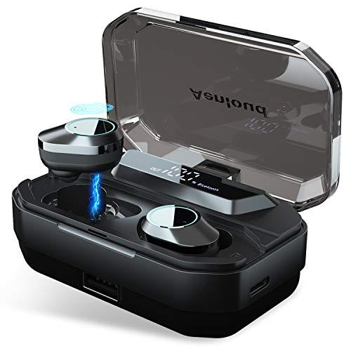 Bluetooth 5.0 In-Ear Kopfhörer, Aenloud HD Stereo Kabellos Ohrhörer,Sport Wireless kopfhoerer mit LED Bildschirm 3000mAh Portable Ladebox,Touch Control Taste,IPX6 Wasserdicht für Samartphone