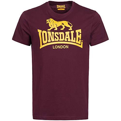 Lonsdale London Logo Camiseta, Oxblood, XXXL para Hombre