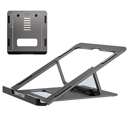 Soporte para Portátil, Multiángulo Ajustable Soporte Ordenadores Portátiles, Plegable Soporte para Laptop para MacBook Pro/Air, HP, DELL, más Portátiles de 10-15,6 Pulgadas,Gris
