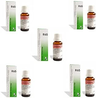 5 Lots X Dr.Reckeweg R 65 Homeopathic Remedy Drops - 22 ML