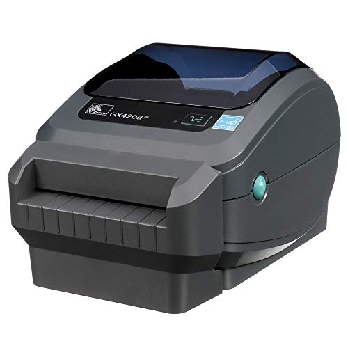 Zebra GX420d Direct Thermal Desktop Printer Print Width of 4 in USB Serial and Parallel Port Connectivity Includes Cutter GX42-202512-000