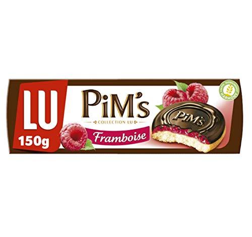 Lu Pim's Galletas Rellenas de Frambuesa y Cubiertas de Chocolate Negro, 150g