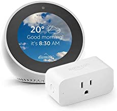 Echo Spot bundle with Amazon Smart Plug, White
