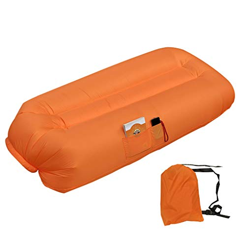 Inflatable Camping Couch Blow UP Outdoor Sofa Beach Chairs