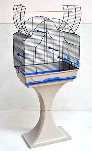 Ollesch Vogelkäfig Wellensittich Kanarien mit Ständer & Freisitz