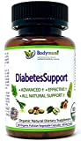 Natural Organic Diabetes Support - Diabetic Supplement by Bodymune   60 Day Supply   Made with Organic Herbs, Fruits & Essential Oils for Blood Sugar Support   Vegan Non GMO Diabetic Vitamins