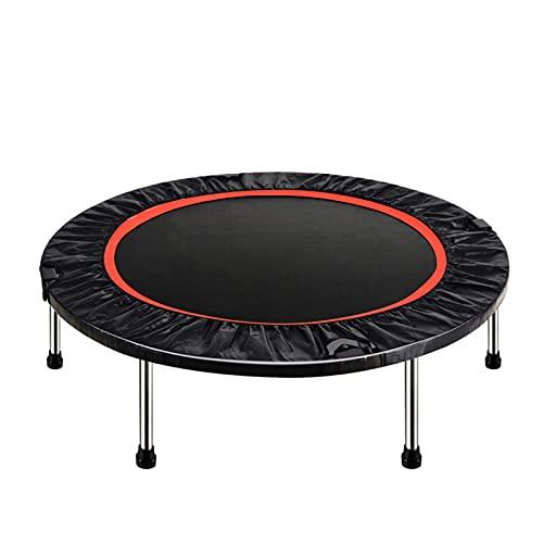 NiñOs Trampolin Cama Elastica Trampolines Fitness Plegable Gran Estabilidad, para Exterior O Interior, Recuperar Figura, Ejercicio, Cardio Y Equilibrio,Negro