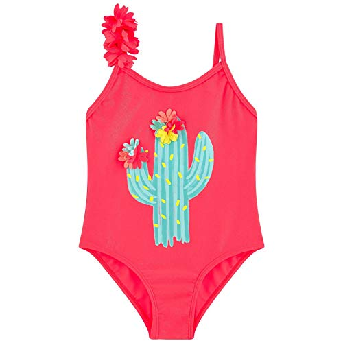 Billieblush Badeanzug glitzernd mit Kaktus Print und 3D Blüten Groesse 5 Jahre