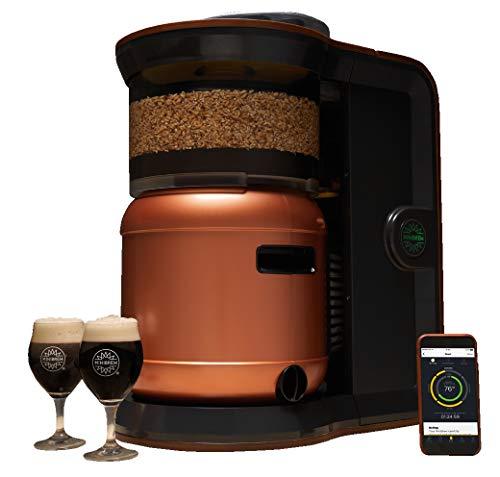 MiniBrew Craft Bierbrauautomat-Set für Hobbybrauer und Bierliebhaber—inklusive BasisStation, SmartKeg-Fass, Ständer, Zapfhahn und Co2-Verbindungsgliedern für eine einfache & selbstreinigende Maschine