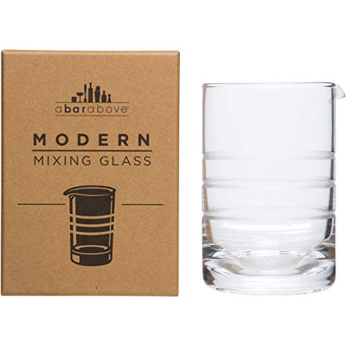 A Bar Above Mixing Glass for Stirred Cocktails (Modern Style) Seamless, Thick & Durable mixing glass for Craft Bars & Professional Bartenders