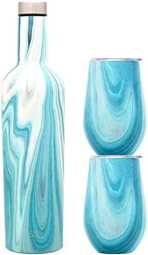 Simple Modern Spirit Wine Bundle 2 12oz Wine Tumbler Glasses with Lids 1 Wine Bottle Vacuum product image
