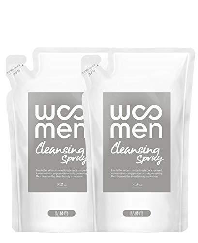 【2個セット】WOOMEN(ウーメン) メンズ 洗顔スプレー 詰替用 250ml×2個 クレンジング