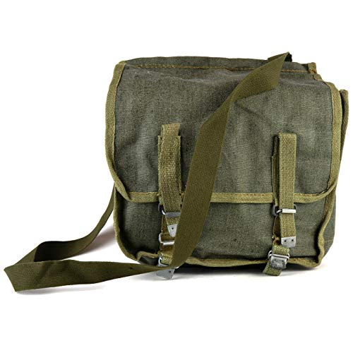 Original Polish army haversack canvas shoulder bag bread bag classic military Messenger daypack OD Olive