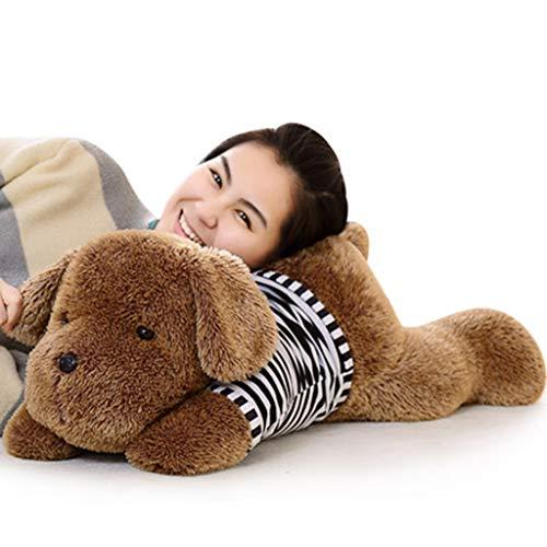 HUOQILIN Hund Plüschtier Tiere Simulation Mit Baumwollkissen Niedlichen Tier Hund Teddy Geschenken Gefüllt (Color : Black, Size : 110cm)