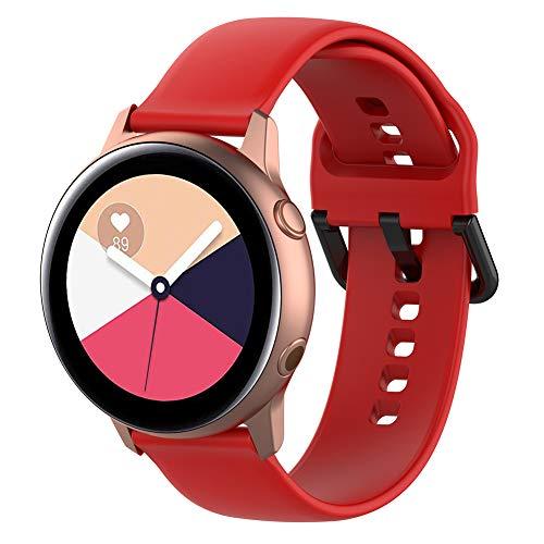 Keweni Correa para Samaung Galaxy Acitve 2/Active/Galaxy Watch 42mm/Gear S2 Classic/Gear Sport,Bandas de Reloj de Silicona Suave para Samsung Galaxy Watch (Grande(6.1''-8.7''), Rojo)
