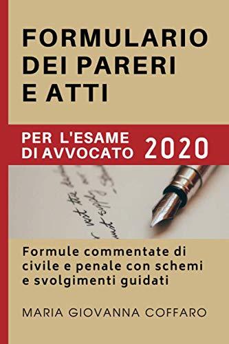 Formulario dei pareri e atti per l'esame di avvocato: Formule commentate di civile e penale con schemi e svolgimenti guidati