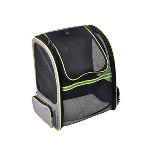 XYSQWZ Pet Carrier Packsack Respirant Head Design Dog Carrier Sac de Voyage Cat Carrier Randonnée Sac à Dos (Gris)