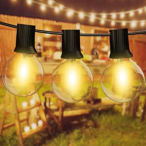 Catena Luminosa Esterno, Kolpop 10M 30+6 G40 Lampadine Luci da Esterno Impermeabile Lucine Decorative Catene Luminose per Esterni Interni Giardino Gazebo Natale Terrazzo Matrimonio Partito Balcone