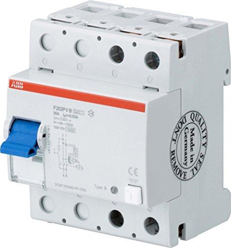 ABB Stotz S & J della Salvavita f202b + 25/0,032P, typb +, 25A, 30ma System Pro M errori di alimentazione Interruttore di protezione 8012542949923