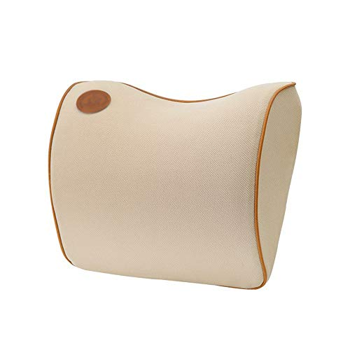 Easy to use Memory Foam Car Neck Pillow, Breathable 3D Neck Pillow, Car Seat Cushion Easy to install (Color : Beige)