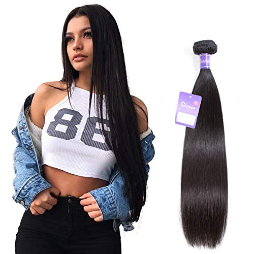 Faddishair Straight Hair One Bundle 12 Inch Brazilian Hair Weave Single Bundle 100% Unprocessed Virgin Human Hair Brazilian Hair Bundle