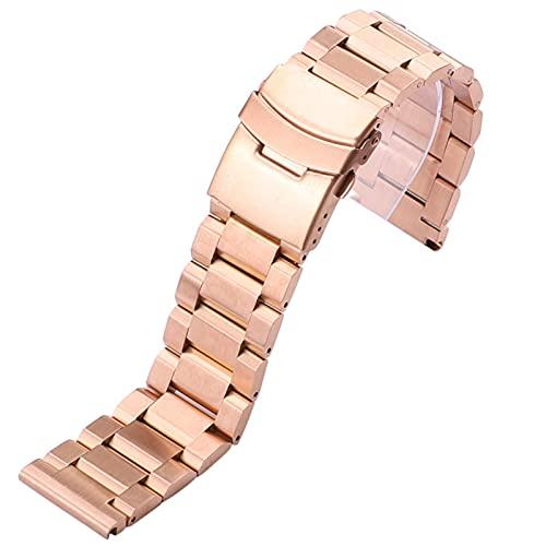 TNSYGSB Correa de Acero Inoxidable, Correa de Acero Inoxidable 18 mm 20 mm 20 mm 22 mm 24 mm de Reloj de Metal Cepillado de 24 mm Accesorios de reemplazo Relojes Mujer
