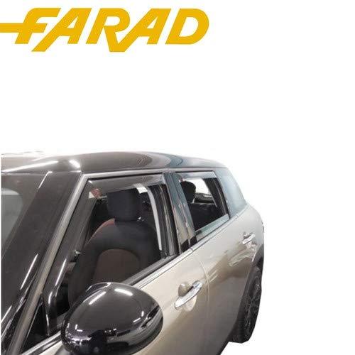 17012 Kit Déflecteurs D'air Coupe-Vent Avant Arrière Jeep Renegade 5P 14 > spécifiques Déflecteurs Anti Pluie Vent Farad