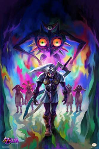 Pyramid America The Legend of Zelda Majoras Mask Fierce Diety Link Nintendo Cool Wall Decor Art Print Poster 12x18