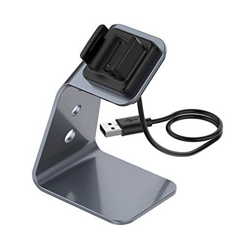 Shiwaki Soporte de Base de Base de Cargador Magnético para Reloj Inteligente Fitbit Charge 4 3 3E Nuevo - Grey
