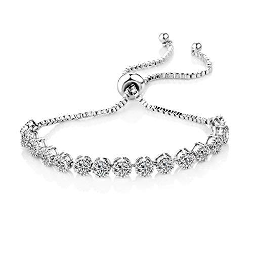 Philip Jones Solitaire Crystal Friendship Bracelet