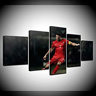 ZHFFYY Canvas Painting 5 Pieces Canvas Painting Football Sport Madrid Wall Art Painting Modular Wallpapers Poster Print Home Decor