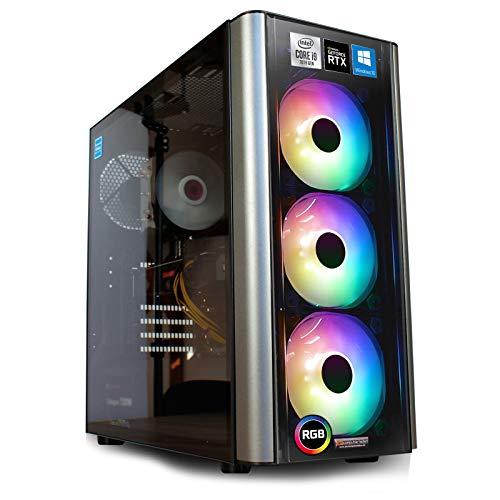 dcl24.de Gaming PC [12715] Intel i9-10900KF 10x3.7 GHz - Z490, 1TB M.2 SSD & 3TB HDD, 32GB DDR4, RTX3070 8GB, WLAN, Windows 10 Pro