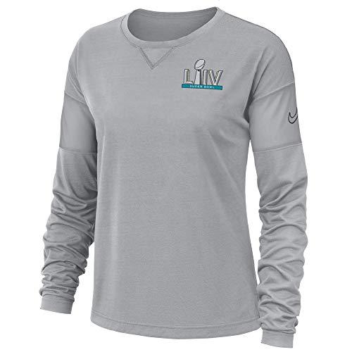 Nike Women's Official Super Bowl Fan Shirt LIV 54 Long-Sleeve Shirt 2019/2020 Season (2X-Large) Grey