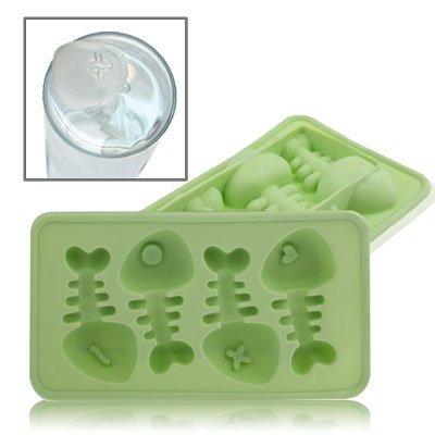 Eiswürfelform / Eiswürfelschale aus Silikon / Lustige Eiswürfel - Fischgräten Style