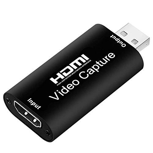 Gaetooely Tarjetas de Captura de Audio y Video una USB 2.0 1080P 4K Grabación una Través de Videocámara DSLR Cámara de Acción para Adquisición de Alta Definición