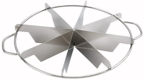 NEW, 8-Slice Pie Cutter Press, 18/8 Gauge Stainless Steel, Commercial Grade, Side-Handles (1, 10 Ounce)