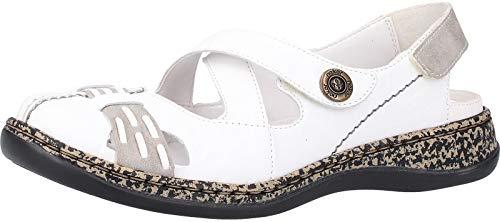 Rieker Damen Slipper Weiß, Schuhgröße:EUR 37