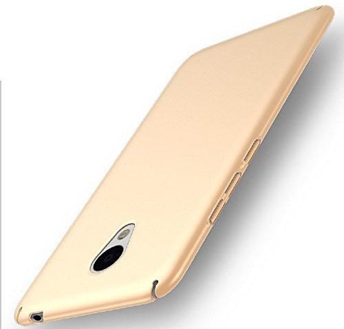Apanphy Meizu M5 Note Hülle, Hohe Qualität Ultra Slim Harte Seidig Und Shell Volle Schutz Hinten Haut Fühlen Schutzhülle für Meizu M5 Note, Gold