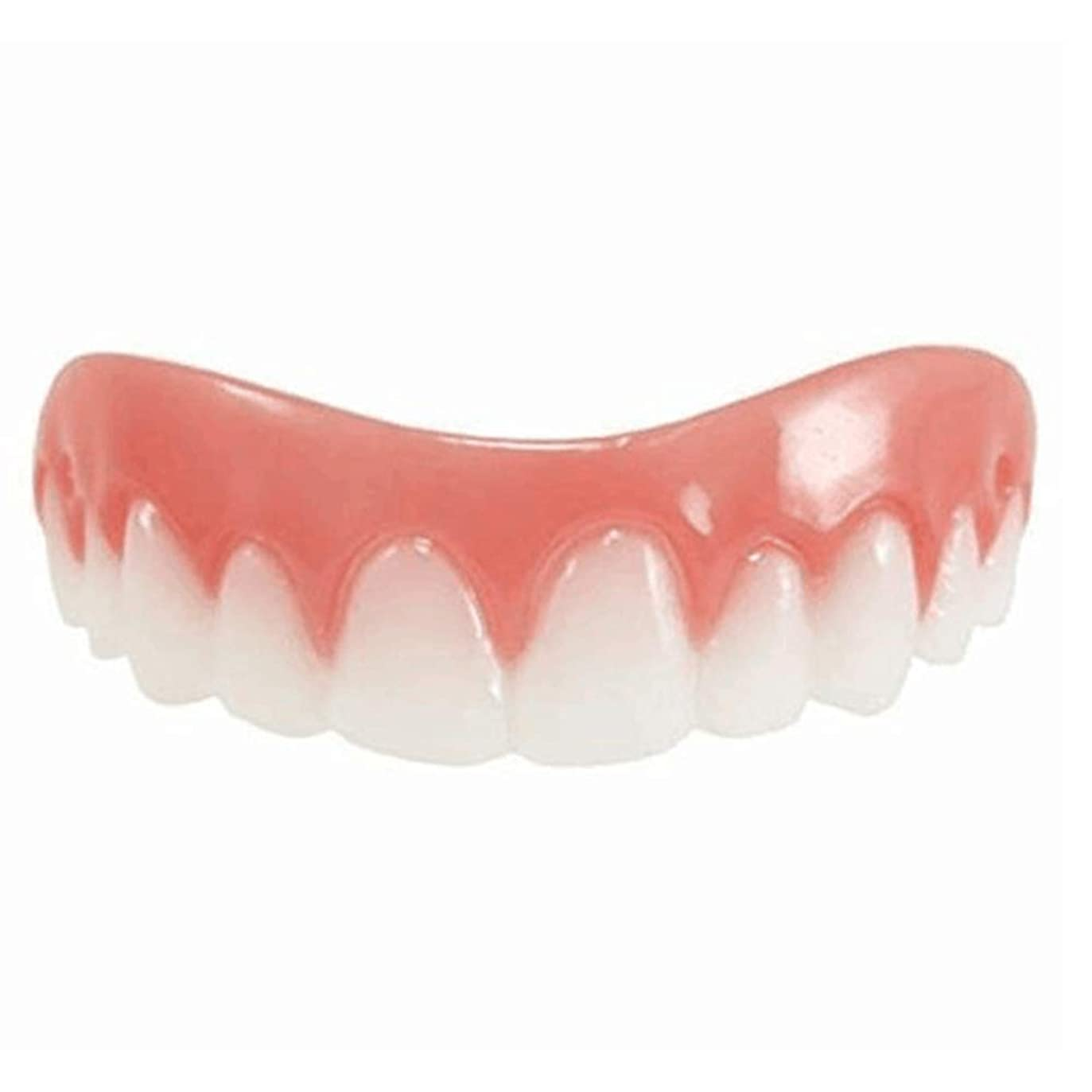 サーキュレーション針切り下げシリコンシミュレーション義歯、歯科用ベニヤホワイトトゥースセット(1個),A