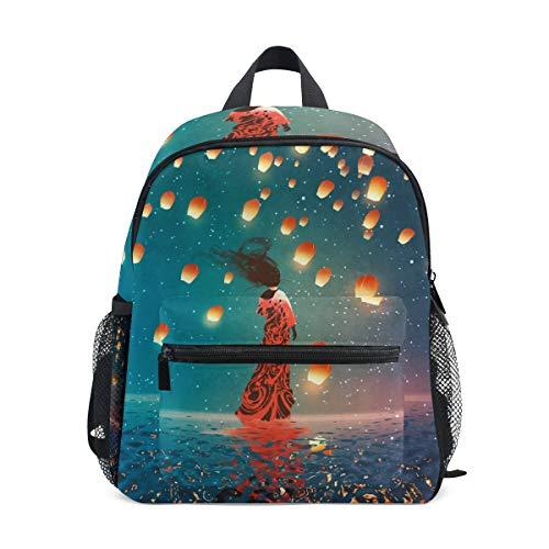 CPYang Kinder Rucksack Japanische Sterne Galaxie Laterne Schultasche Kindergarten Kleinkind Vorschulrucksack für Jungen Mädchen Kinder