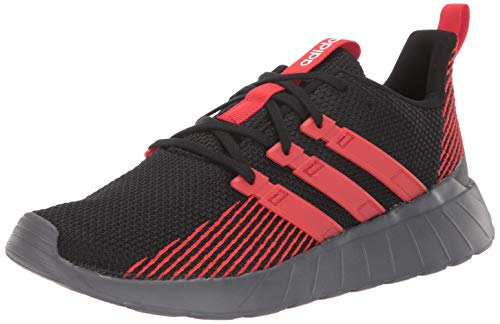adidas Men's Questar Flow Running Shoe, Black/Active Red/Grey, 10 M US