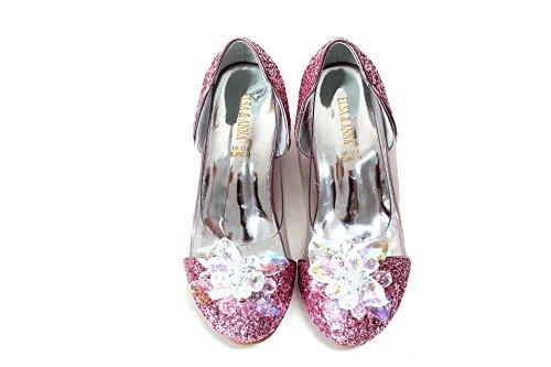 ELSA & ANNA Última Diseño Niñas Princesa Reina de Nieve Partido Zapatos Zapatos de Fiesta Sandalias PNK16-SH (PNK16-SH, Euro 30-Longitud:20.1cm)