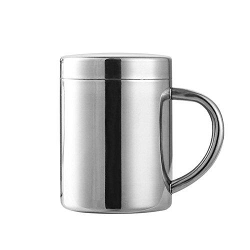 Edelstahl Kaffeetasse Mit Deckel, Portable Kaffeetasse Teetasse Wasserflasche für Küche Camping