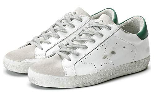 Golden Goose Zapatillas de deporte de moda para hombre con cordones y parte superior baja, estilo informal, para caminar, color Verde, talla 44 EU