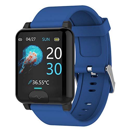 Lloow Fitness Tracker IP67, ECG & PPG Watch Actividad de Fitness Tracker Cardio Impermeable IP67 SmartWatch Monitor de Ritmo cardíaco Monitor Reloj de Pulsera, SmartWatches Unisex 2021,Azul