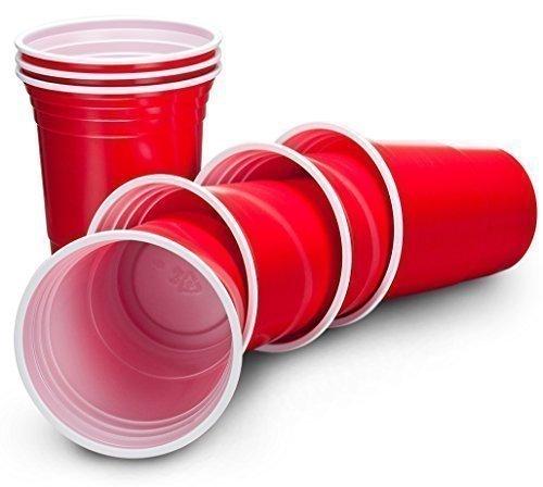 Einweg-Partybecher, amerikanisch, 455ml, Rot, 50 Stück