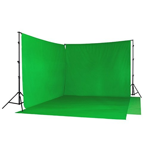 METTLE Hintergrund-Set: Doppel-Teleskop-Hintergrundsystem & 2X Stoffe grün